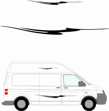 (No.226) MOTORHOME GRAPHICS STICKERS DECALS CAMPER VAN CARAVAN UNIVERSAL FITTING